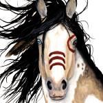 """""""Eye of Blue - Spirit Horse"""" by AmyLynBihrle"""