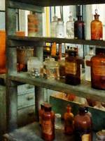Bottles of Chemicals Tall and Short