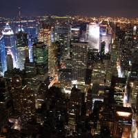 Manhattan at Night Art Prints & Posters by Mark H Anbinder