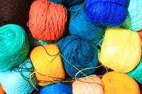 Skeins of Colored Yarn