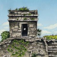 TULUM-Watchtower Art Prints & Posters by Steve Radzi