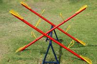 Yellow Red and Blue See Saw