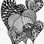 """Interlocking Hearts in Black and White"" by Nanwright"