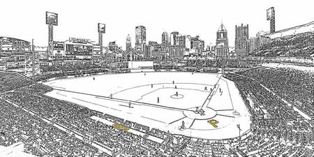 Pirates PNC Park Line Drawing