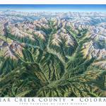 """Clear Creek County Colorado"" by jamesniehuesmaps"