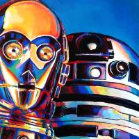 Droid Family Portrait Art Prints & Posters by Laura Ferreira