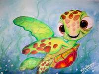 Disney's Finding Nemo - Squirt drawing