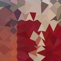 Antique Ruby Abstract Low Polygon Background