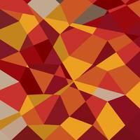 Carnelian Red Abstract Low Polygon Background