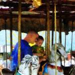 """First Carousel Ride"" by susansartgallery"