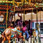 """Merry Go Round With Elephants"" by susansartgallery"