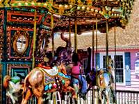 Merry Go Round With Elephants