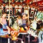 """Waving Hi From the Merry-Go-Round"" by susansartgallery"