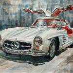 """1954 Mercedes Benz 300 SL Gullwing"" by JoeyAgbayani"