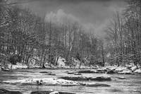 """Panther Creek in Snow"" #4 by Joe Gemignani"