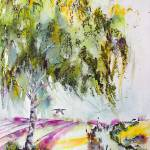 """Dreaming Of Provence Watercolor and Ink"" by GinetteCallaway"
