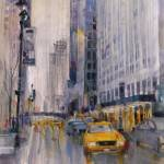 """CityScape New York City Street - Vertical"" by dfrdesign"