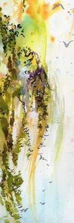 Expressive Watercolor and Calligraph Windswept