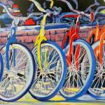 """Bicycle Shop - Yellow Bike"" by BeaconArtWorksCorporation"