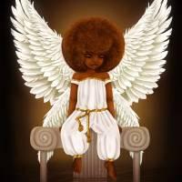 Lil' Angel Art Prints & Posters by Shakira Rivers