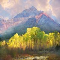 """at the foot of the mountains a tranquil stream"" by R Christopher Vest"