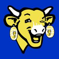 The Laughing Cow Pop 3 - Yellow  on Blue)