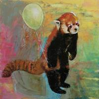 """Red Panda Balloon"" by Michael Creese"