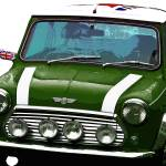 """Mini Cooper Digital Art Print"" by ImageMonkey"