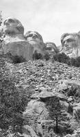 Black/white Mt. Rushmore