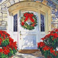 POINSETTIA HOUSE Art Prints & Posters by David Lloyd Glover