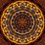 """Ochre Stained Glass Mandala"" by richardhjones"