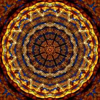 Ochre Stained Glass Mandala