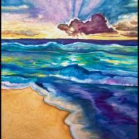Caribbean Sunrise Art Prints & Posters by Cheryl Marie