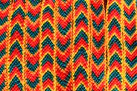 Red Green and Yellow Woven Bracelet