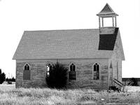 Frontier Church bw