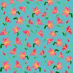 """Pink Lily pattern"" by AnaCBStudio"