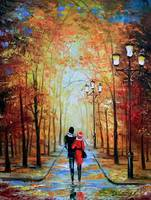 A romantic walk