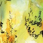 """Watercolor Calligraphy Panorama 1"" by GinetteCallaway"