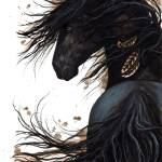 """Majestic Friesian Horse 143"" by AmyLynBihrle"