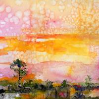 Southern Wetland Summer Impression Art Prints & Posters by Ginette Callaway