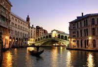 Italy, Venice, Grand Canal, Rialto Bridge