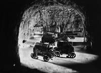 The Galleries inside the rock of Gibraltar, St Geo by WorldWide Archive