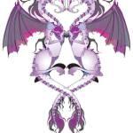 """Purple Love Dragons"" by Azodnem"