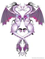 Purple Love Dragons