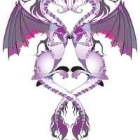 Purple Love Dragons Art Prints & Posters by Roberto Mendoza