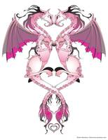 Pink Love Dragons