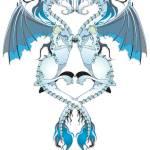 """Azure Love Dragons"" by Azodnem"