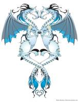 Azure Love Dragons