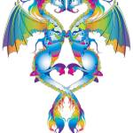 """Rainbow Love Dragons"" by Azodnem"