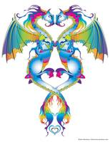 Rainbow Love Dragons